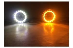 Quake LED 4in Fog Lights w/White DRL Halo  - JK/LJ/TJ/CJ