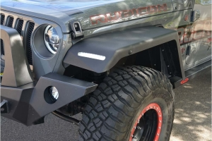 Rock-Slide Engineering Full Length Front Fender Flares w/ OEM LED - JL