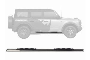 Go Rhino 5in 1000 Series Side Step Kit - Polished - Ford Bronco 4Dr