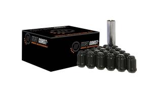 West Coast 14x1.5 Black Spline Drive Lug Nut Kit, 1.4in – qty 24 (Part Number: )