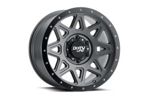Wheel-1 Dirty Life 9305 Theory Series Non-Beadlock Wheel, Matte Gunmetal w/ Matte Black Lip 17X9 5x5 (Part Number: )
