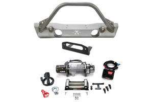 Poison Spyder Brawler Lite Front Bumper and Warn Winch M8000 Package ( Part Number: WRNPKG-2)