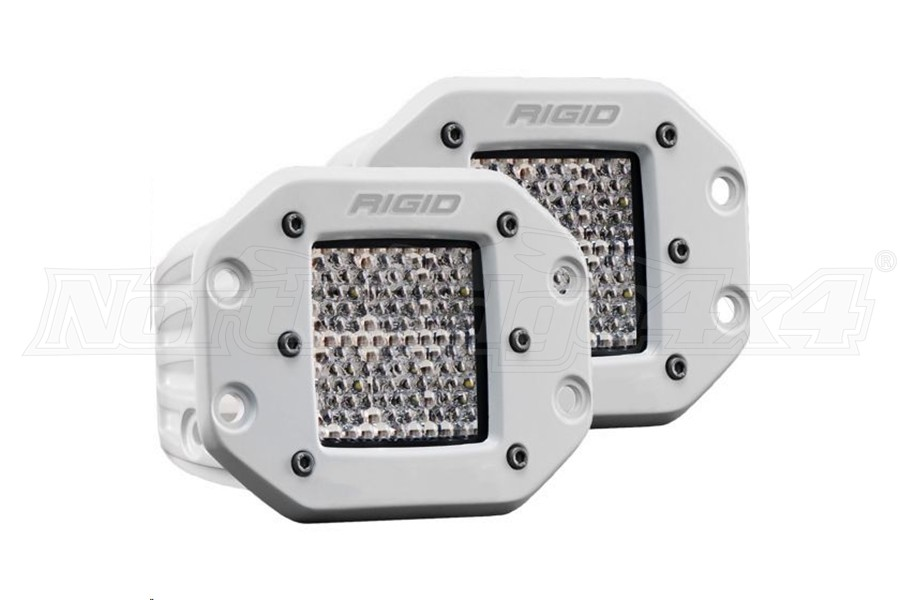 Rigid Industries D-Series Pro Hybrid Diffused Flush Mount, Pair (Part Number:612513)