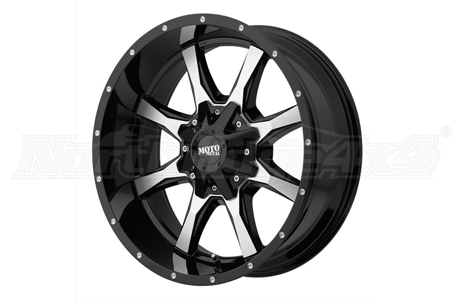 Moto Metal Wheels MO970 Series Non-Beadlock Wheel, 20x10 8x6.5 (Part Number:MO97021080324N)