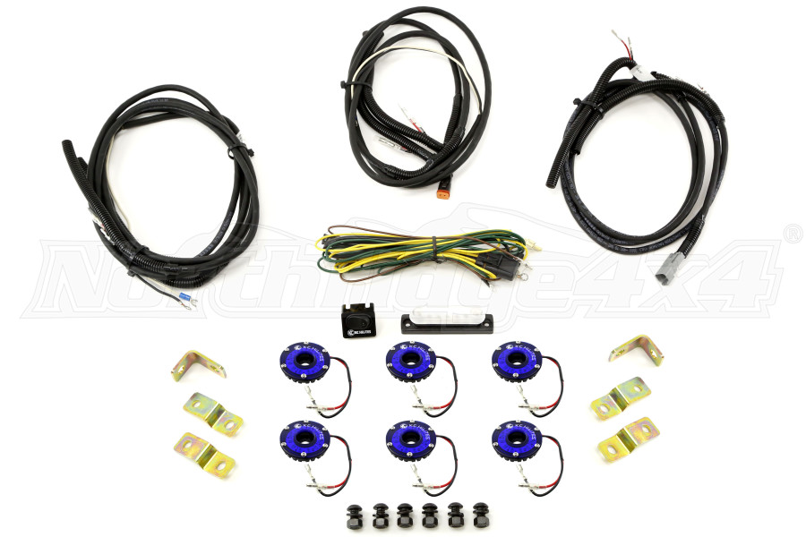 KC Hilites Rock Light Kit, 6 Lights, Blue (Part Number:91028)