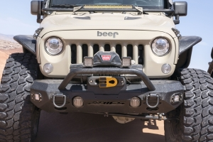 Aries Trail Chaser Front Bumper Round Brush Guard Aluminum - JK