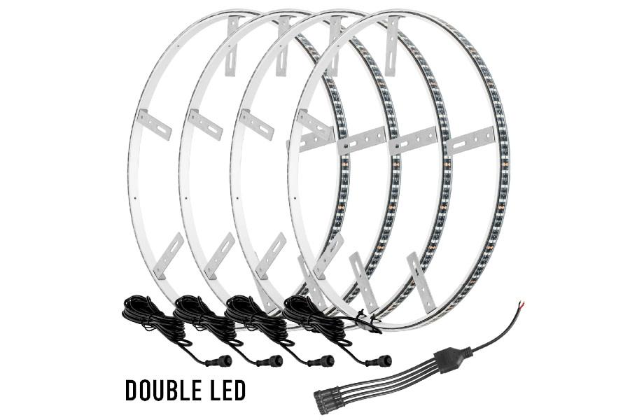 Oracle Illuminated Wheel Rings - Double LED - White