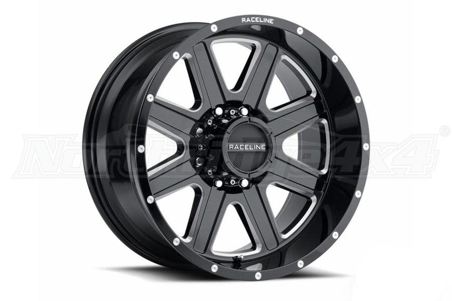 Raceline 940M Hostage Milled Wheel, 20x10 5x5 - Gloss Black - JT/JL/JK