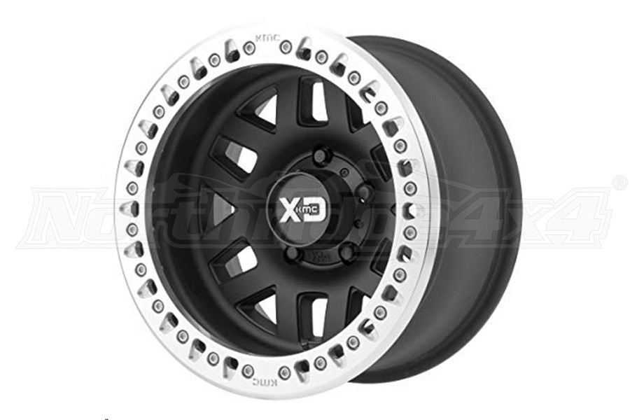 KMC Wheels XD229 Machete Beadlock Satin Black Wheel, 17X9 8x170