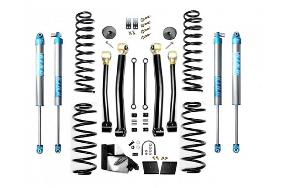 Evo Manufacturing HD 4.5in Enforcer Stage 3 Lift Kit w/ King 2.0 Shocks - JL
