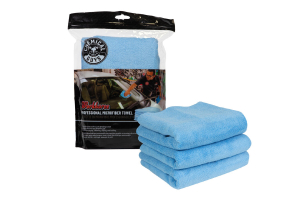 Chemical Guys Workhorse Professional Grade Microfiber Towels Blue - 3 Pack