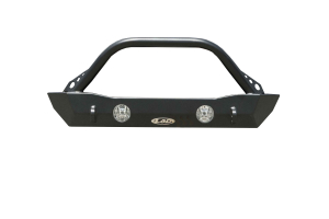 LOD Destroyer Shorty Front Bumper w/ Bull Bar Black Powder Coated - JK