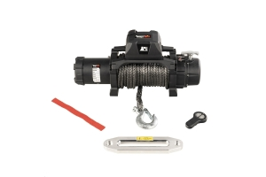 Rugged Ridge Trekker Winch w/ Synthetic Rope and Wireless Remote