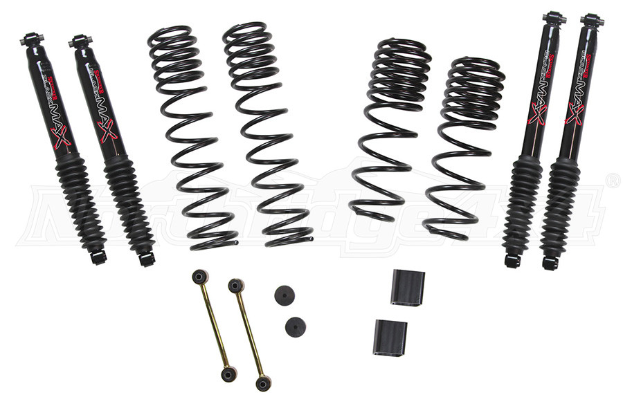 Skyjacker 1-1.5in Dual Rate-Long Travel Lift Kit System with Black MAX Shocks - JL 4dr Non Rubicon