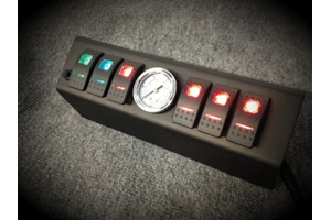 SPOD 6 SWITCH W/ AIR GAUGE AND DOUBLE LED SWITCHES & SOURCE SYSTEM Green - JK