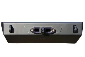 Nemesis Industries Helix Front Bumper w/ Winch Plate Offset Drum - Semi Gloss Black Powder Coat, Aluminum (Part Number: )