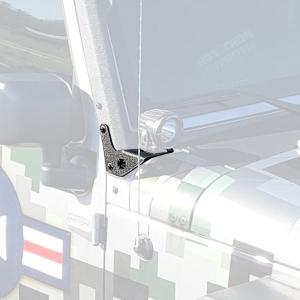 Iron Cross Lower Windshield Light Bracket  - JK