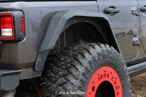 Iron Cross Rear Fender Flare Set - Black - JT