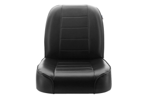 Rugged Ridge Low-Back Front Bucket Seat, Black  (Part Number: )