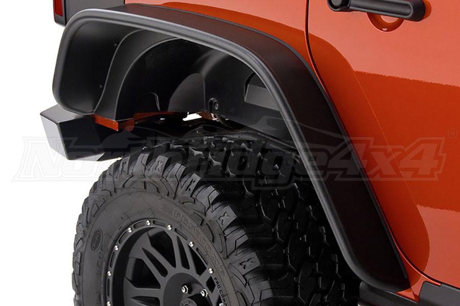 Bushwacker Flat Style Fender Flares, Black - JL 4DR