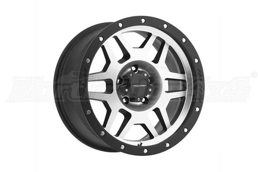 Pro Comp Xtreme Alloys Series 3541 Phaser Machined Face and Black Lip 18x9 5x5 (Part Number:3541-897350)