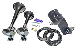 Kleinn Dual Air Horn Add-On Kit, Black - JL/JT