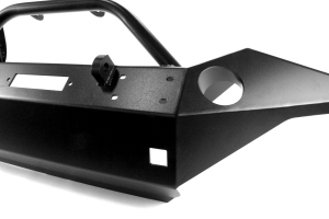 Rock Hard 4x4 Patriot Series Full Width Front Bumper w/Lowered Winch Plate Black (Part Number: )