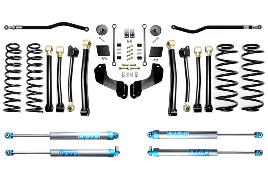 Evo Manufacturing HD 2.5in Enforcer Overland Stage 4 PLUS Lift Kit w/ King 2.0 Shocks - JL
