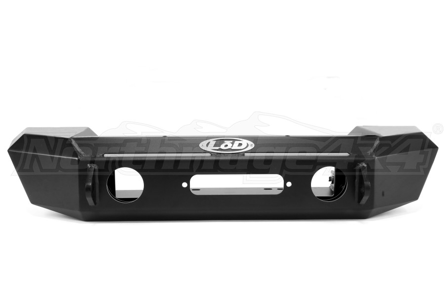 LOD Offroad Signature Series Shorty Front Bumper - Black Powder Coated - JK