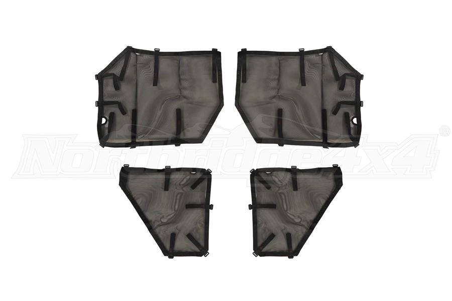 Rugged Ridge Fortis Tube Door Covers, Full Set - Black  - JT/JL 4Dr