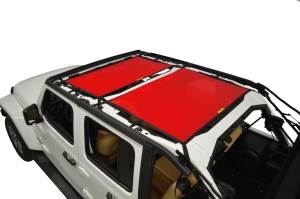Dirty Dog 4x4 Sun Screen Front and Rear - Red - JL 4DR