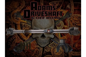 Adam Driveshaft Extreme Duty Series 1350 Solid Front Half Round CV Driveshaft  - JT Rubicon Only