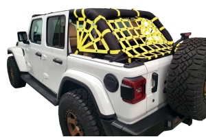 Dirty Dog 4x4 Netting Kit Spider Sides 3pc Yellow - JL 4dr
