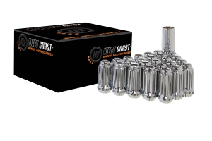 West Coast 8 Lug 14x2.0 Closed End Lug Nuts, Chrome 32 pieces