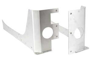 EVO Manufacturing Rockskin Corners Aluminum Rear ( Part Number: 1070-4DAL)