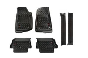 Rugged Ridge All Terrain Floor Liner Kit w/Door Entry Guards Package - JL 2Dr