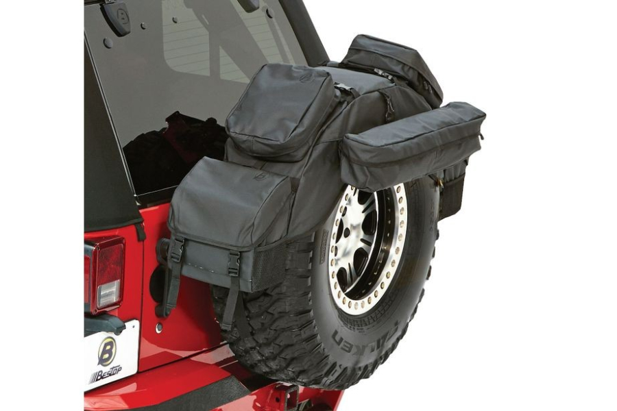 Bestop RoughRider 30-33in Spare Tire Organizer Black Diamond