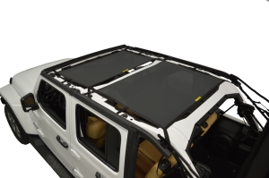 Dirty Dog 4x4 Sun Screen Front and Rear - Black (Part Number: )
