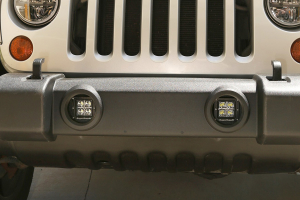 Rugged Ridge LED Light & Mount Kit, Square (Part Number: )