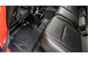 Rugged Ridge Rear Floor Liner - Black  - JT