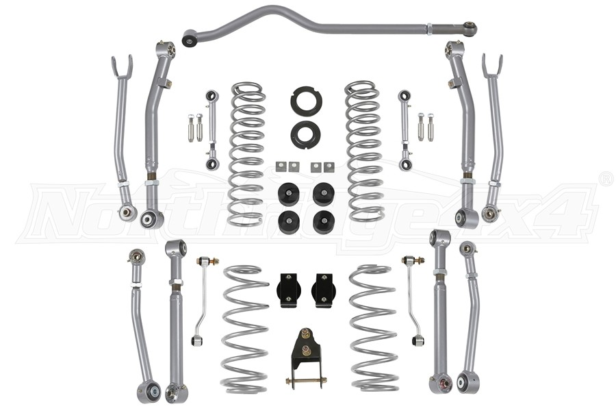 Rubicon Express 3.5/4.5in Super-Flex Suspension Lift Kit, No Shocks - JL