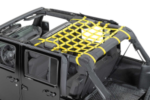 Dirty Dog 4x4 Rear Seat Netting Yellow (Part Number: )