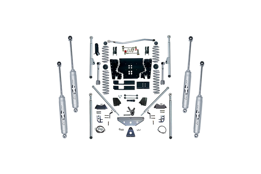 Rubicon Express 4.5in Extreme Duty Long Arm Lift Kit w/Rear Tri-Link & Twin Tube Shocks (Part Number:RE7504T)
