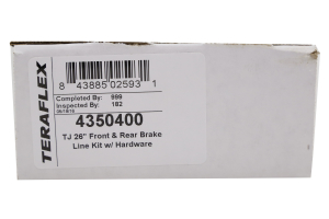 Teraflex Front and Rear Brake Line Kit 26in - LJ/TJ