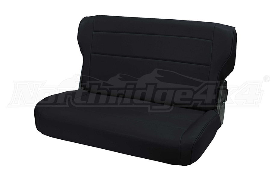Rugged Ridge Fold And Tumble Rear Seat, Black  (Part Number:13462.01)