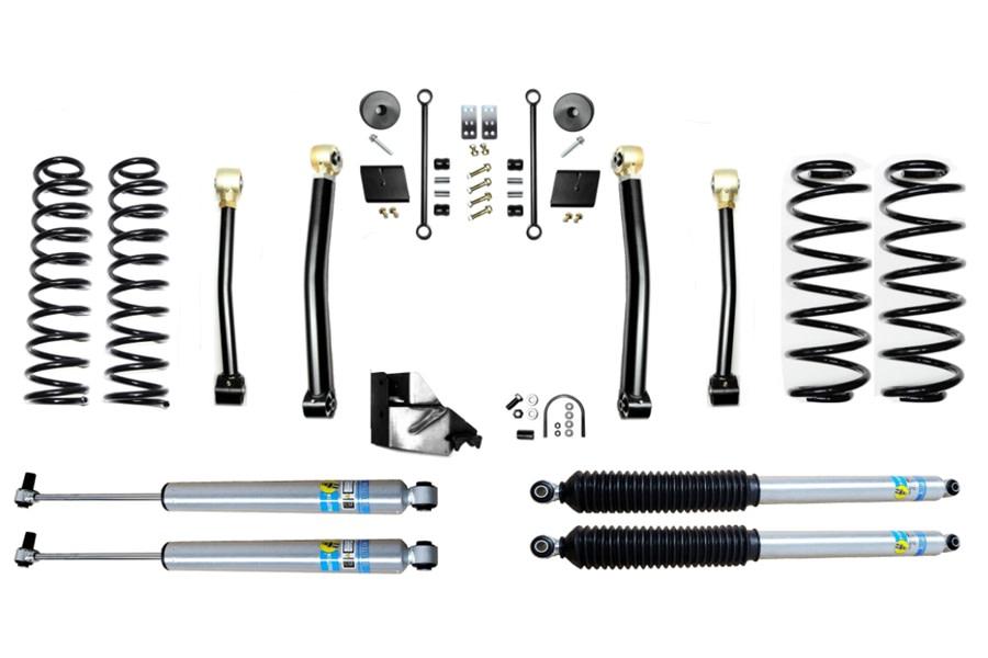 Evo Manufacturing 4.5in Enforcer Stage 3 Lift Kit w/ Bilstein Shocks - JL 4Dr