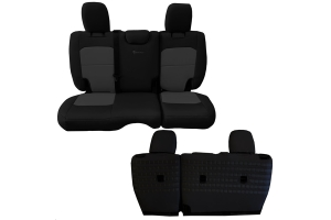 BARTACT Seat Cover Rear Black/Graphite - JL 4dr