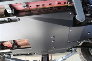 Rock Hard Complete Bellypan Skid Plate System with Dual Crossmembers, Aluminum (Part Number: )