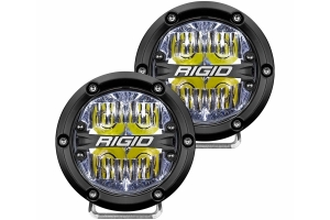 Rigid Industries 360 SERIES 4in LED Light Pair - Driving w/White Backlight