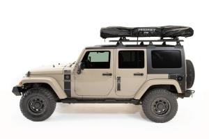 FreeSpirit Recreation Adventure Series Gas Strut Premium 55in Roof Top Tent - Black